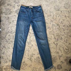 "Madewell 10"" high rise skinny jean size 26"